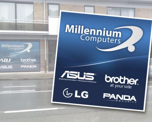 Raamsticker Millennium-Computers